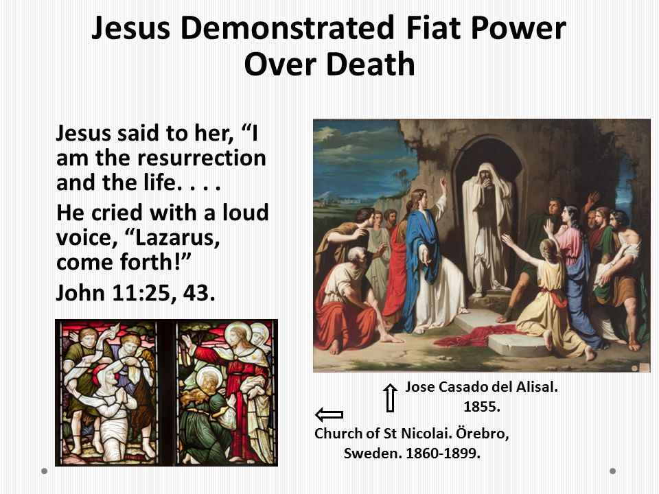 Jesus Demonstrated Fiat Power Over Death