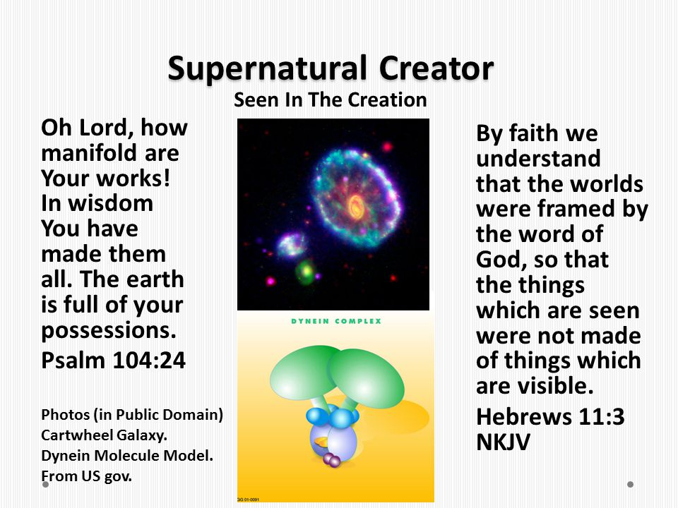 Supernatural Creator Seen In The Creation.