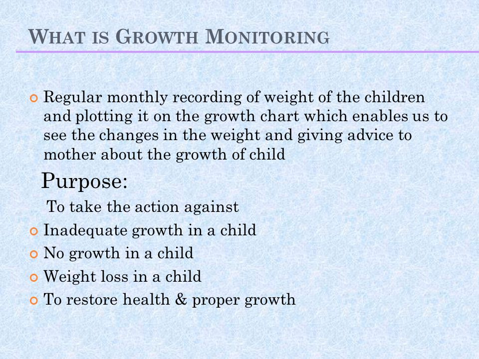 What is Growth Monitoring