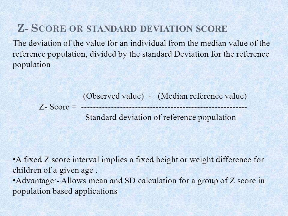 Z- Score or standard deviation score