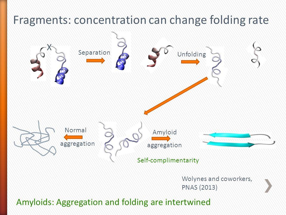 Fragments: concentration can change folding rate