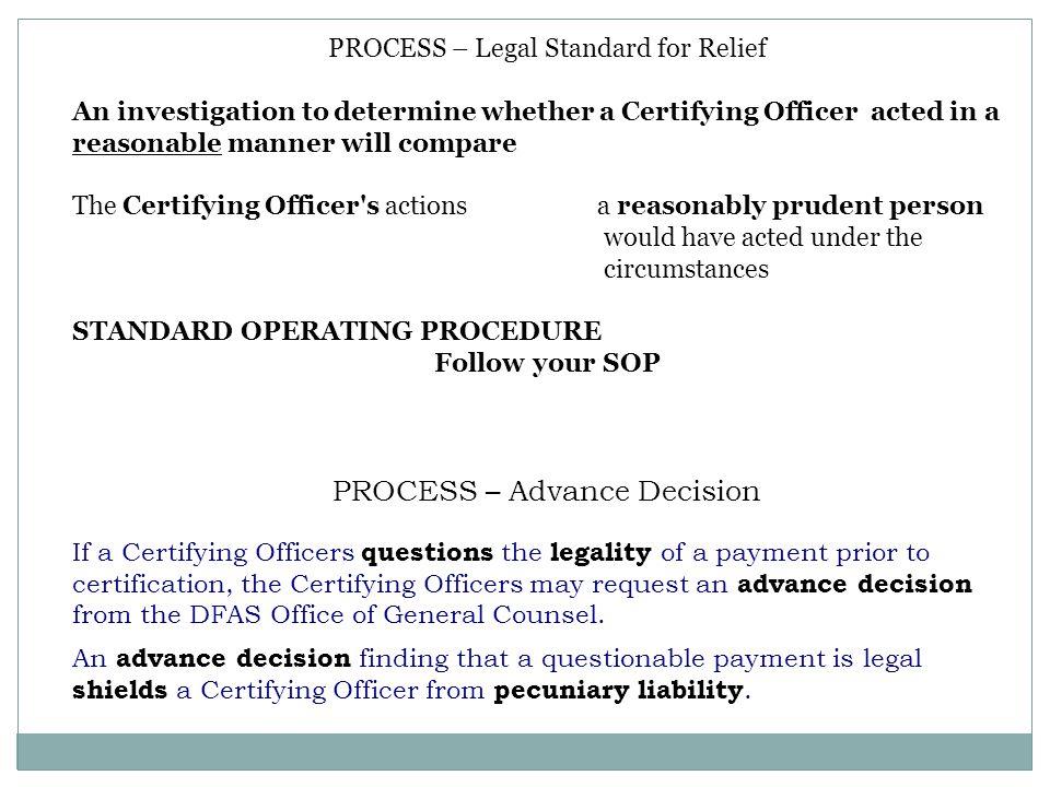 PROCESS – Advance Decision
