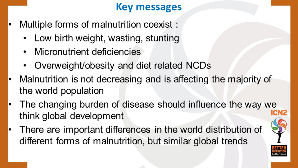 Key messages Multiple forms of malnutrition coexist :