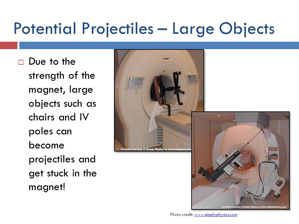 Potential Projectiles – Large Objects