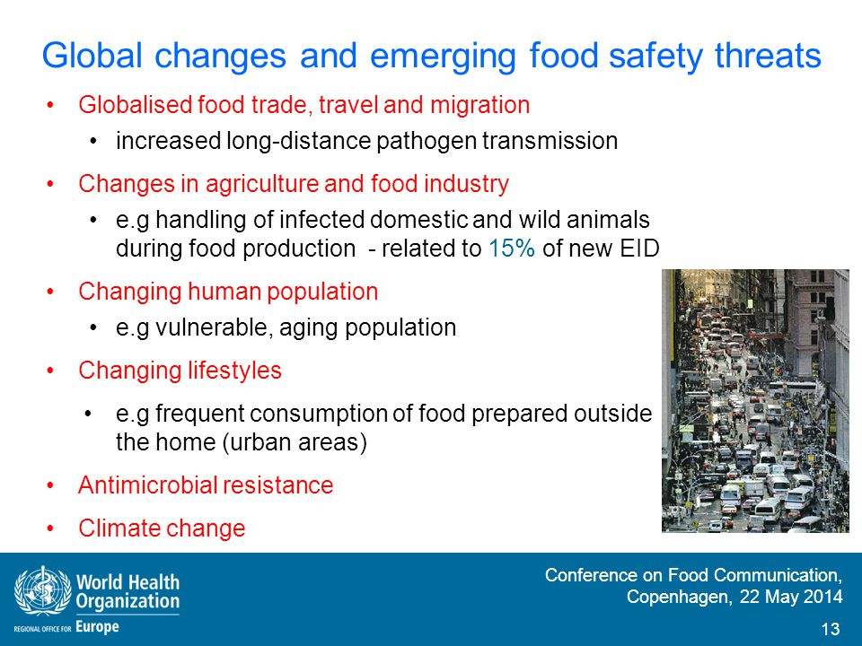 Global changes and emerging food safety threats