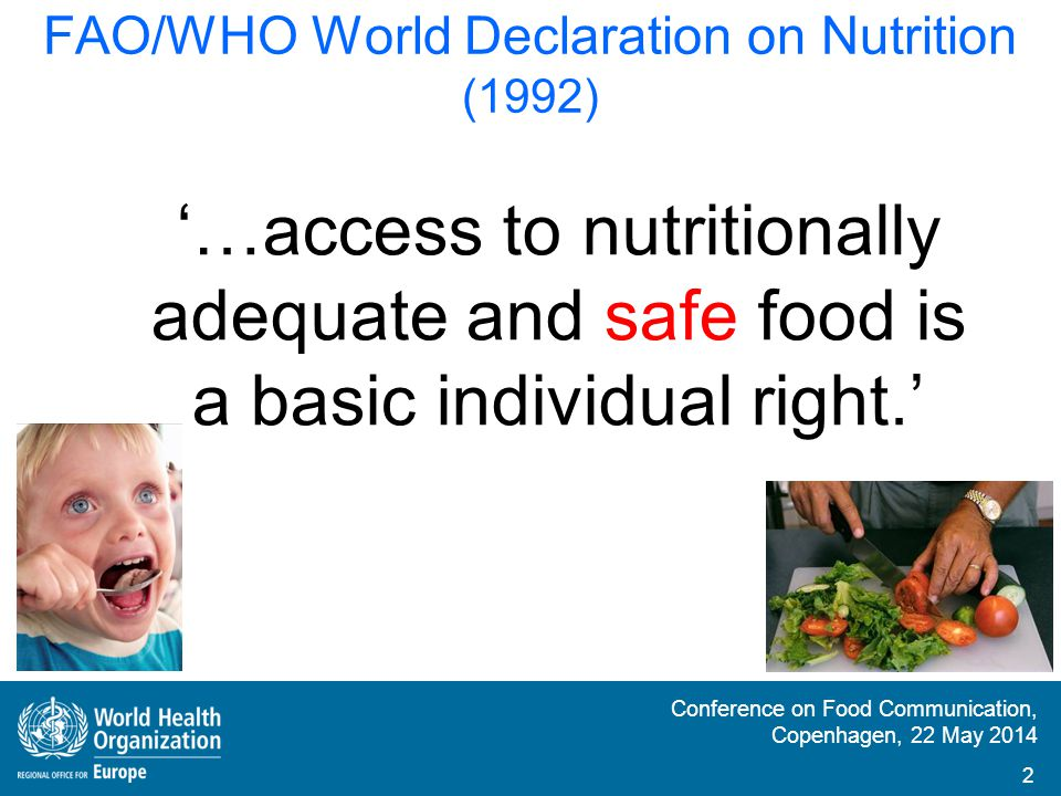FAO/WHO World Declaration on Nutrition (1992)
