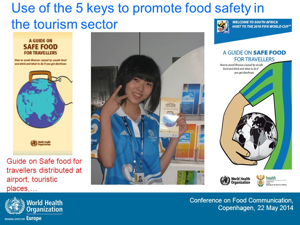 Use of the 5 keys to promote food safety in the tourism sector