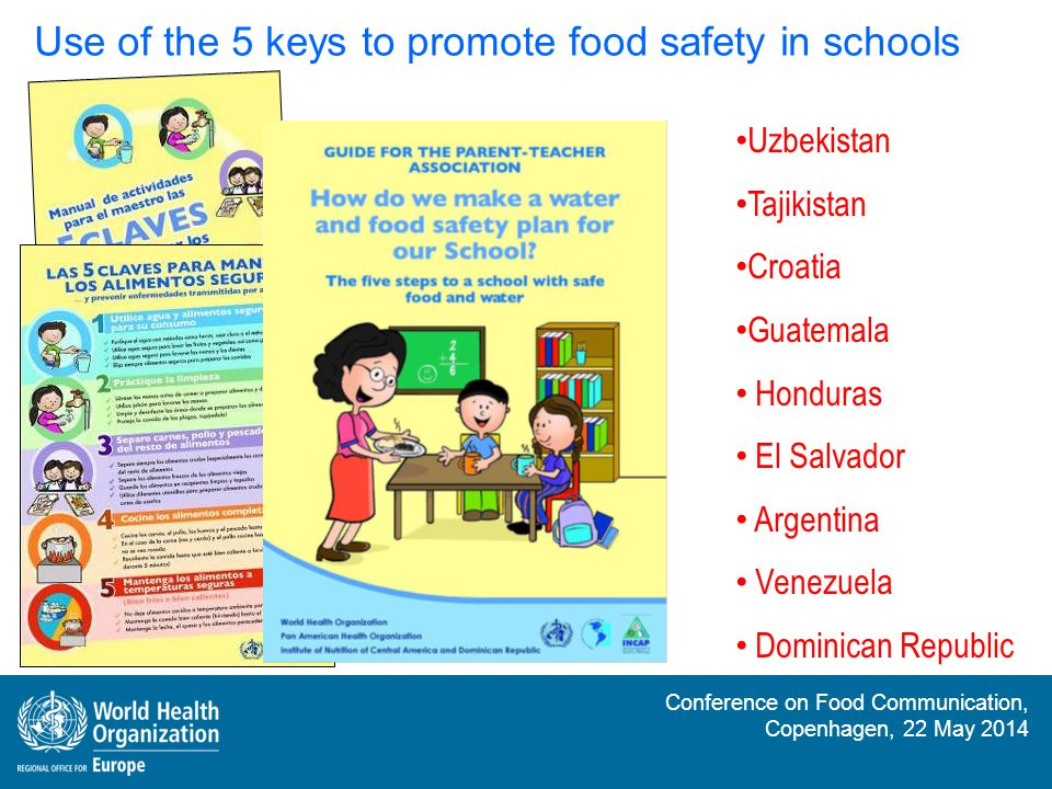 Use of the 5 keys to promote food safety in schools