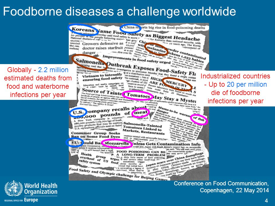 Foodborne diseases a challenge worldwide