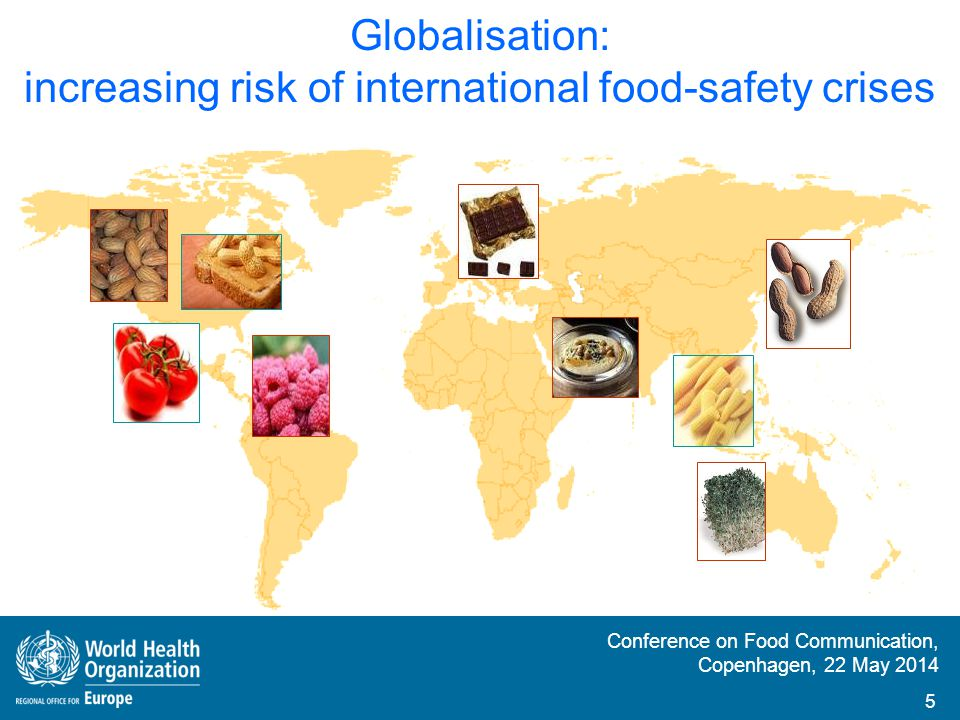 Globalisation: increasing risk of international food-safety crises