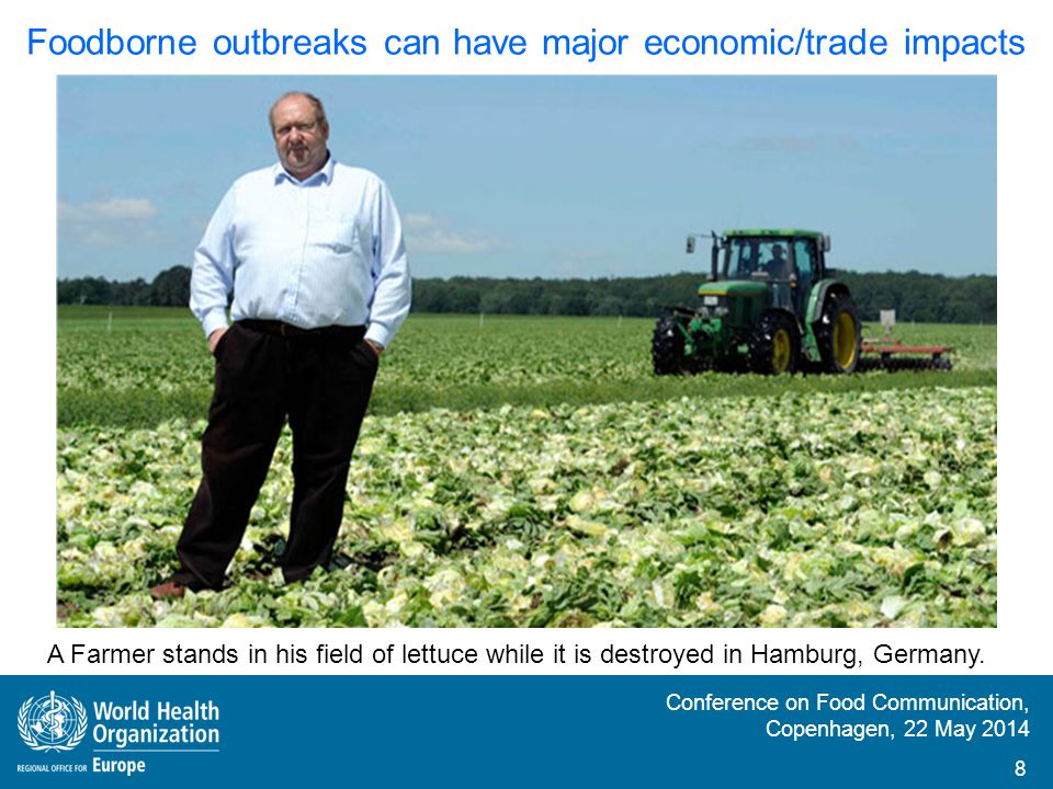 Foodborne outbreaks can have major economic/trade impacts