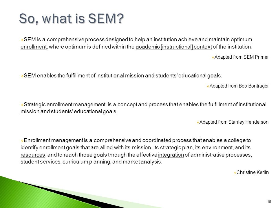 So, what is SEM