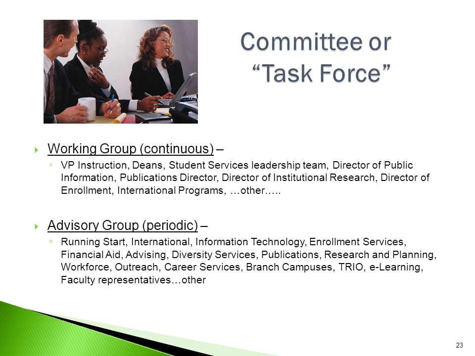 Committee or Task Force