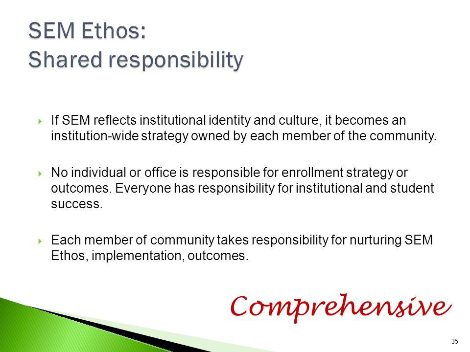 SEM Ethos: Shared responsibility