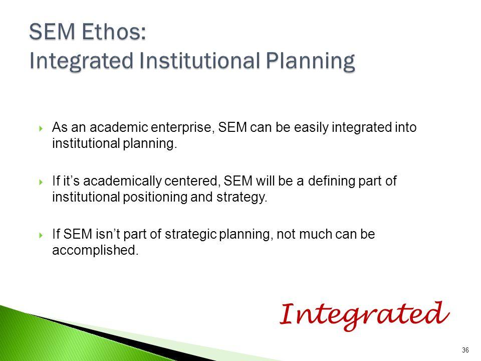 SEM Ethos: Integrated Institutional Planning