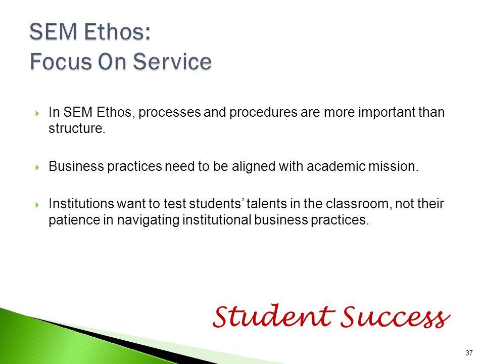 SEM Ethos: Focus On Service