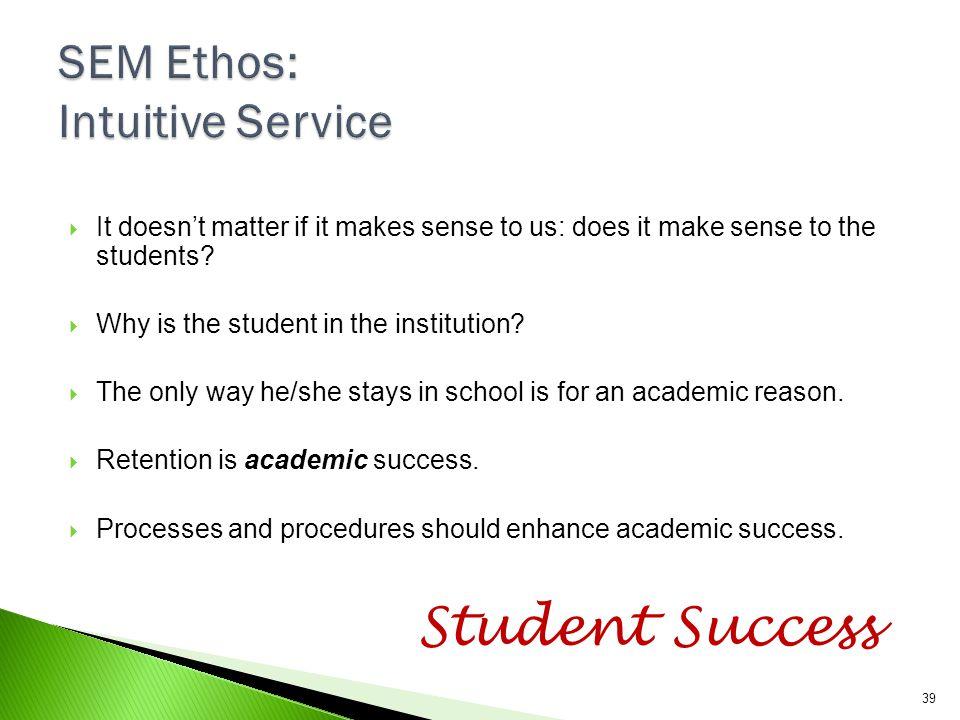 SEM Ethos: Intuitive Service