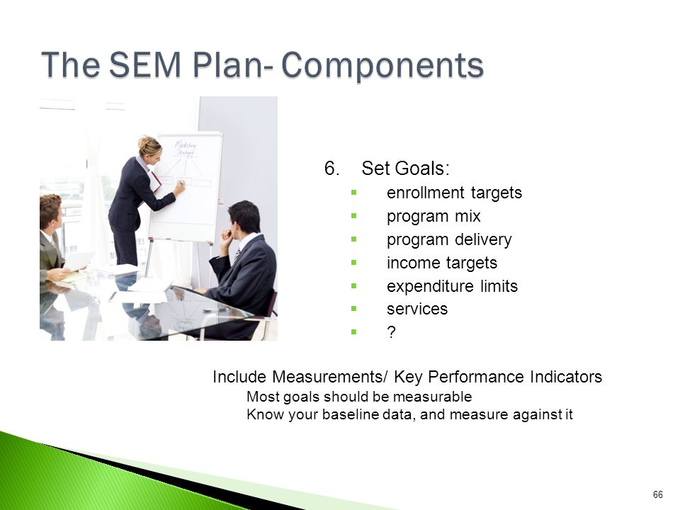 The SEM Plan- Components