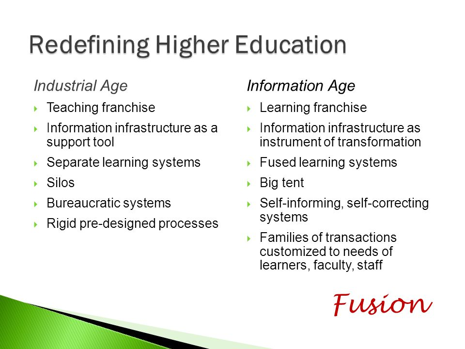 Redefining Higher Education