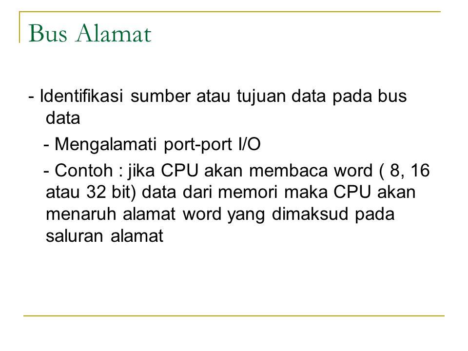 Bus Alamat - Identifikasi sumber atau tujuan data pada bus data
