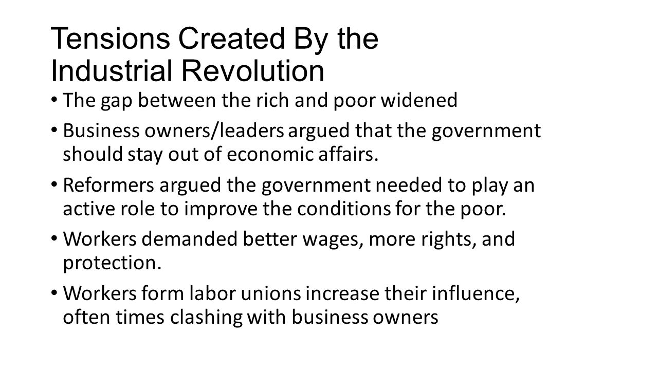 Political Change during the Industrial Revolution