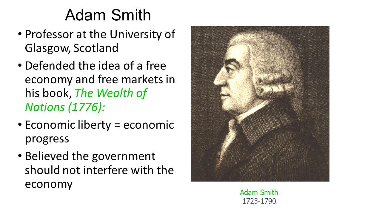 Adam Smith Professor at the University of Glasgow, Scotland