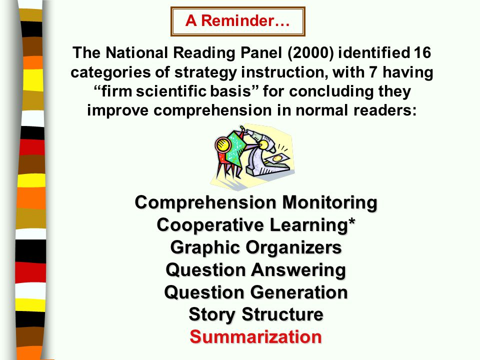 Comprehension Monitoring Cooperative Learning*