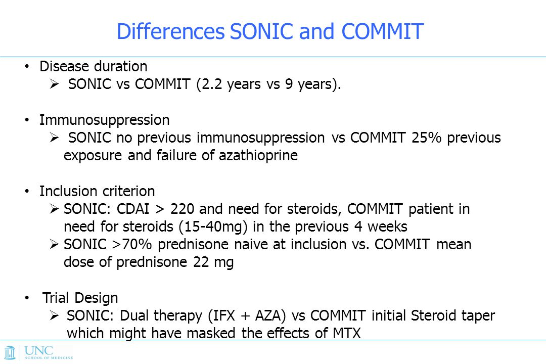 Differences SONIC and COMMIT