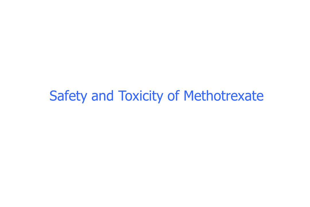 Safety and Toxicity of Methotrexate