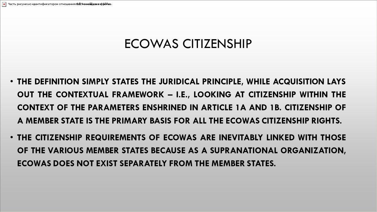 Ecowas citizenship