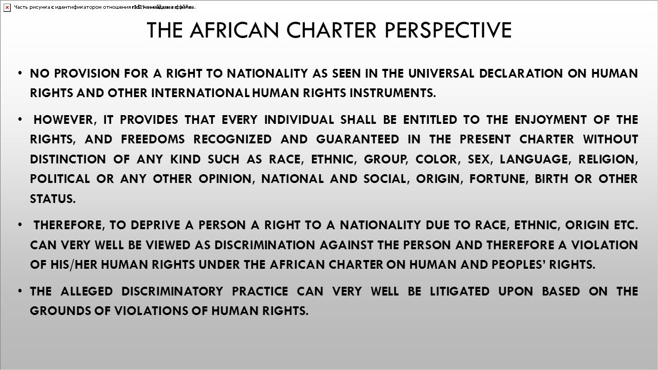 The African charter perspective