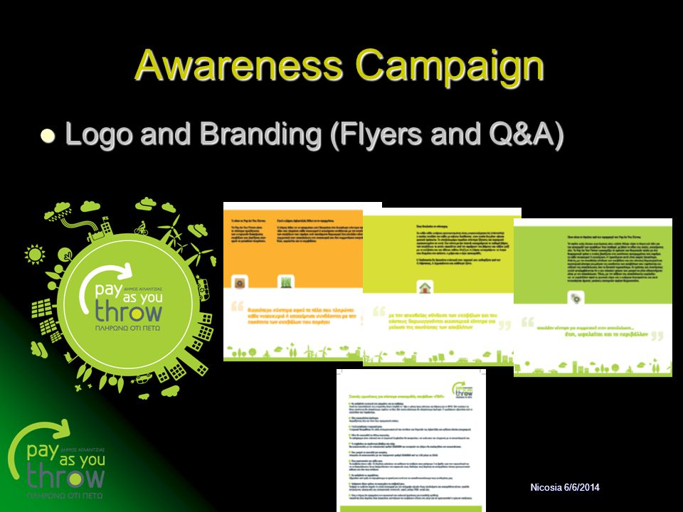Awareness Campaign Logo and Branding (Flyers and Q&A) Nicosia 6/6/2014