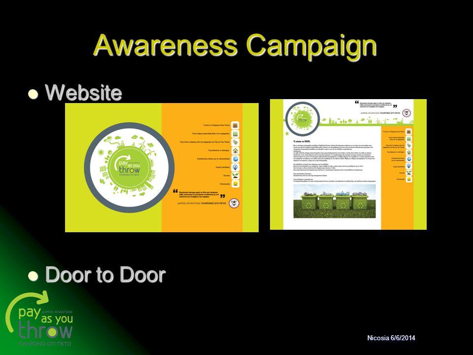 Awareness Campaign Website Door to Door Nicosia 6/6/2014