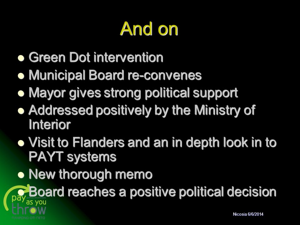 And on Green Dot intervention Municipal Board re-convenes