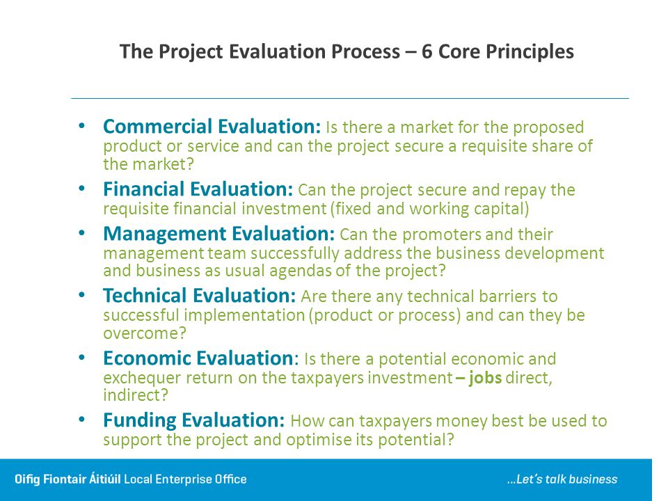 The Project Evaluation Process – 6 Core Principles
