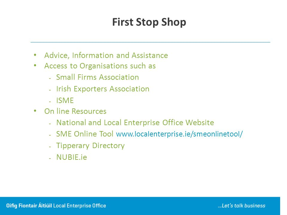 First Stop Shop Advice, Information and Assistance