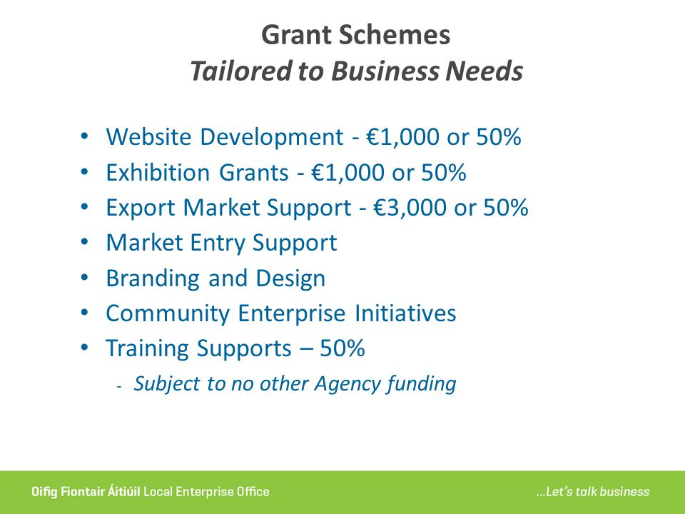 Grant Schemes Tailored to Business Needs
