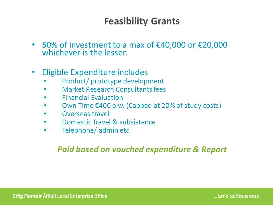 Paid based on vouched expenditure & Report