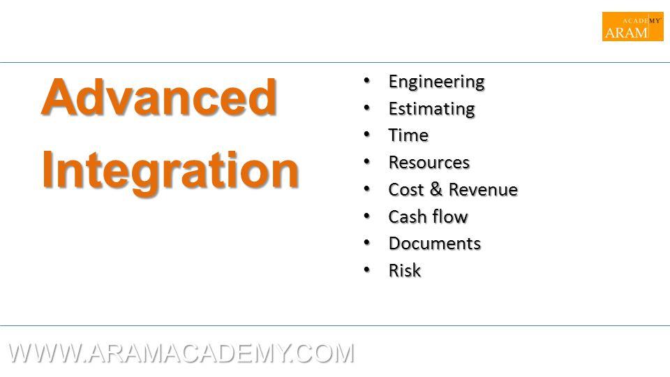 Advanced Integration WWW.ARAMACADEMY.COM Engineering Estimating Time