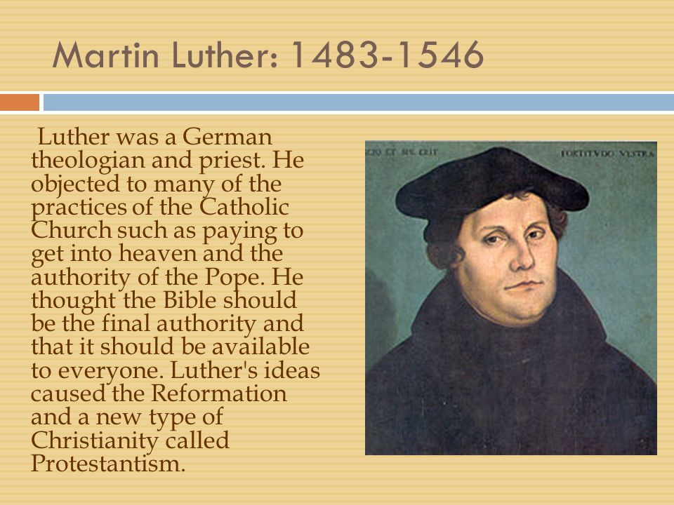 Martin Luther: 1483-1546