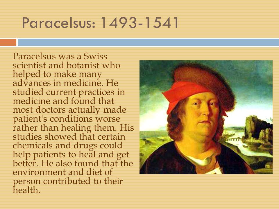 Paracelsus: 1493-1541