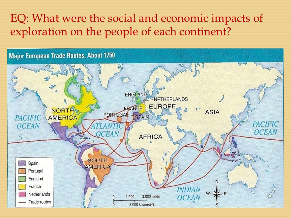 EQ: What were the social and economic impacts of exploration on the people of each continent