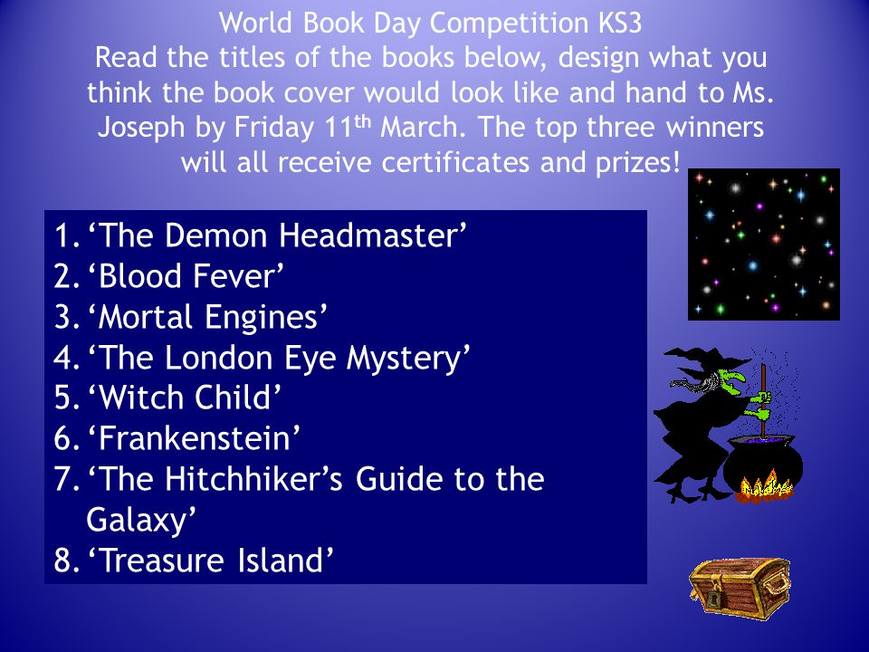 World Book Day Competition KS3