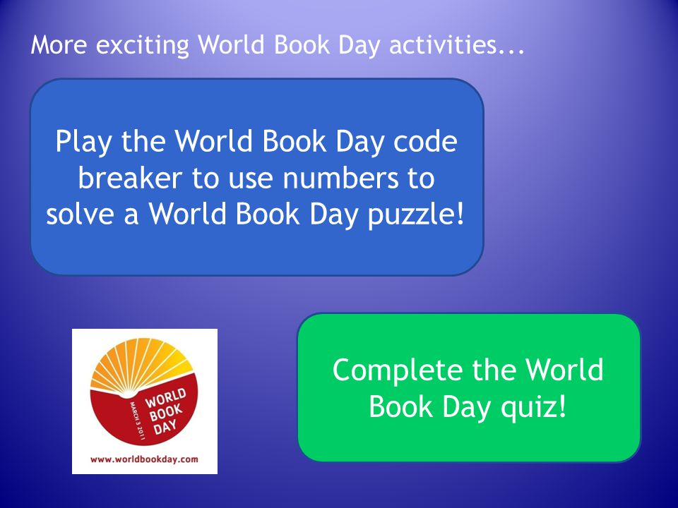 Complete the World Book Day quiz!
