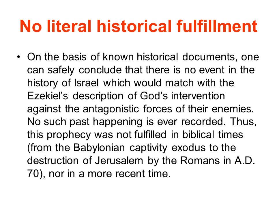 No literal historical fulfillment