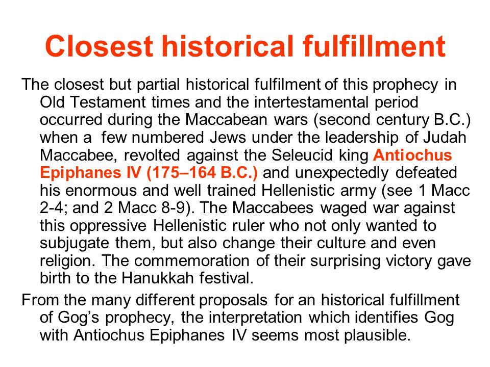 Closest historical fulfillment