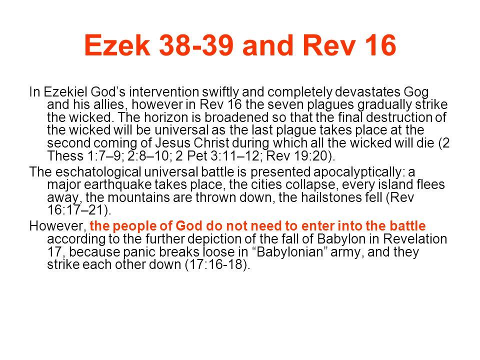 Ezek 38-39 and Rev 16