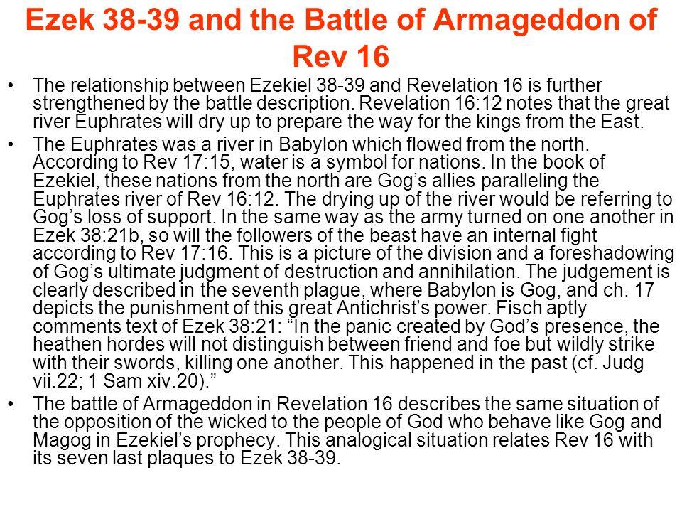 Ezek 38-39 and the Battle of Armageddon of Rev 16