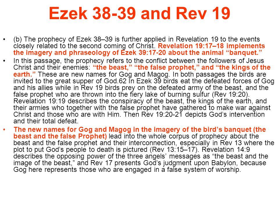 Ezek 38-39 and Rev 19