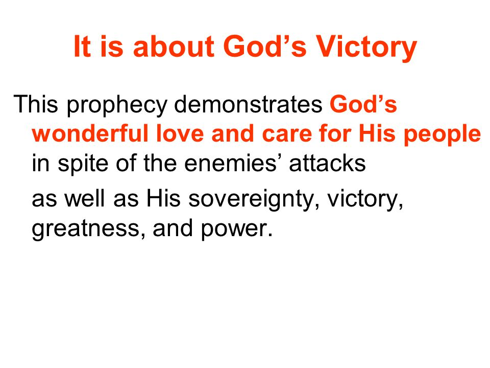 It is about God's Victory